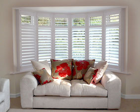 Example of Christchurch Plantation Shutters in lounge