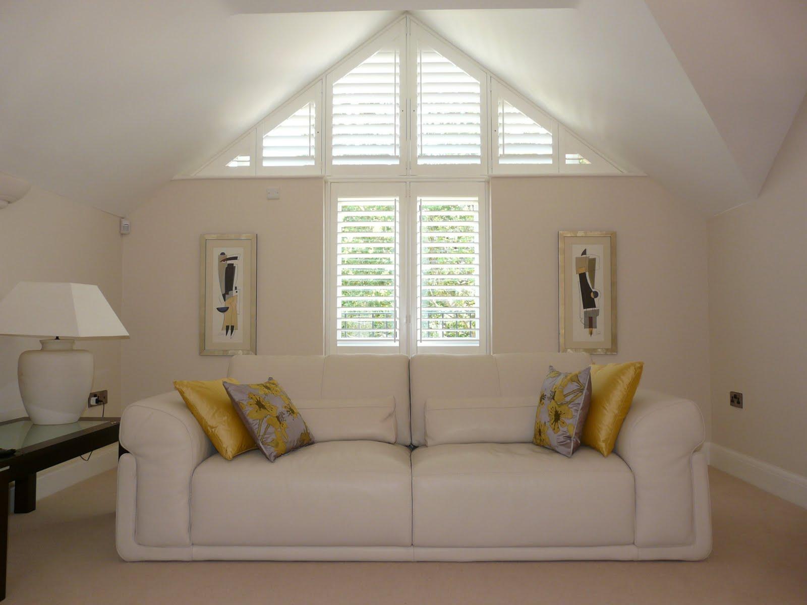 Triangle window with window shutters bradford on avon