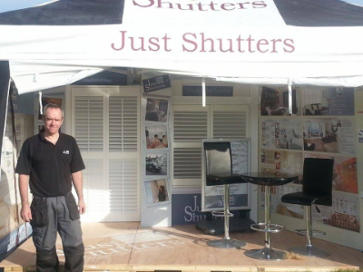 Just Shutters stall