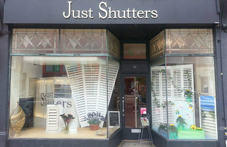 Just Shutters shutter showroom Bournemouth