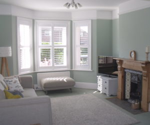 Plantation Shutters Milford on Sea in lounge