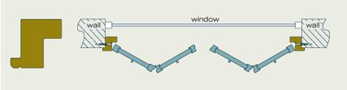Mounting trim frame