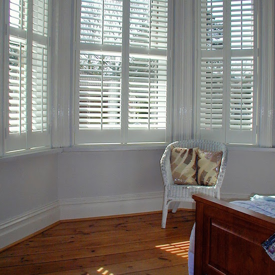 Bishop's Stortford Plantation Shutters example in bedroom