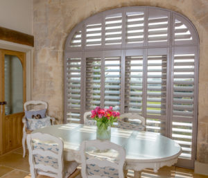 Purbeck window shutters in dining room