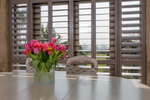 Cheshunt Plantation Shutters in kitchen