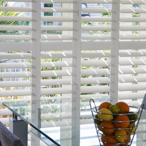 Margate Plantation shutters in kitchen
