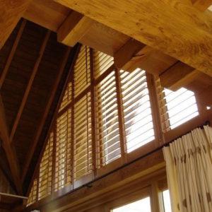 Dark wood Denbigh shutters
